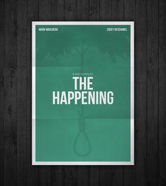 Semi-minimal movie poster of The Happening by Rubenski Gooljar