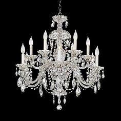 Schonbek Sterling Collection 12-Light Crystal Chandelier - #75124 | www.lampsplus.com