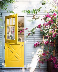 """10.7k Likes, 74 Comments - domino (@dominomag) on Instagram: """"14 yellow doors that are pure happiness. See more statement-making, sunshine-colored doors via the…"""""""