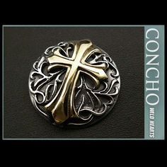 Concho Cross & Arabesque Sterling Silver 925 & Brass WILD HEARTS Leather&Silver http://item.rakuten.co.jp/auc-wildhearts/co2340/