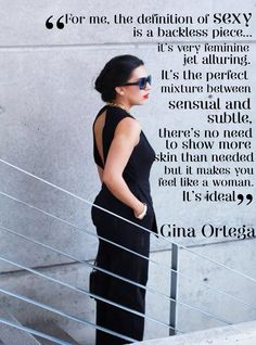 Fashion Quote Gina Ortega