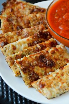 Cheesy Cauliflower Breadsticks - Gluten free!! Awesome for the picky eaters!
