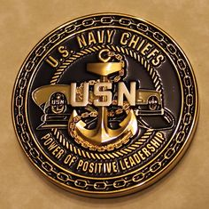 US Navy Chiefs Power of Positive Leadership Compass Navy Challenge Coin