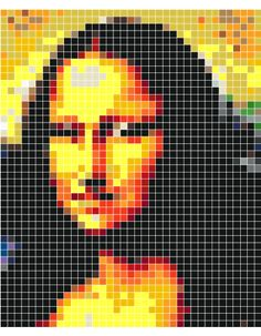 Mona Lisa - Crochet / knit / stitch charts and graphs