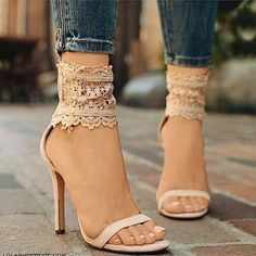 Beautiful Heels Shoes For Women You Must See 32 Thigh High Boots Heels, Ankle Strap Heels, Ankle Straps, High Heels, Heeled Boots, Shoe Boots, Shoes Heels, Pumps, Lace Shoes