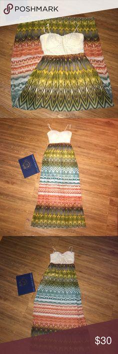 Summer Beach dress, M back cut out Worn once, like new. Trixxi Dresses Maxi