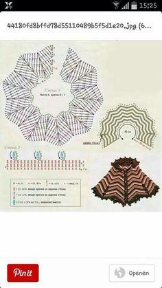 Diagram 8 hoek poncho omslagdoek