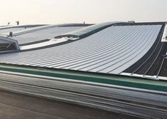 Roll 2 Roll Lamination with PVD & NCC Coating Technology Provides Cost-Saving & Material Efficiency. Stainless Steel Balustrade, Roof Cladding, Cladding Materials, Roof Ceiling, Steel Roofing, Cost Saving, Surface Finish, Wrought Iron, Custom Design