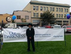 Chairman Thomas O'Rourke, who lost his son in 2009, spoke to participants of the Arcata Out of the Darkness Walk.
