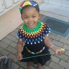 Little girl in Zulu attire
