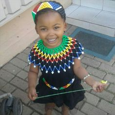 Little girl in Zulu attire