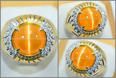 Lemon Honey Colour CAT'S EYE TAJAM - CE 108 - Batu Permata | Batu Mulia | Cincin Batu