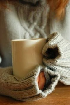 Mmmmm. Hot beverage--coffee, tea, apple cider...pick one, or all! It's Fall!