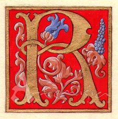 Illuminated letter R   http://artemisiarestauro.blogspot.com