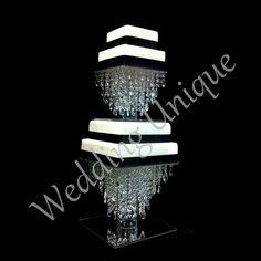 espejo de base Diamante ajustada Luces Grande De Vidrio Cristal Pastel De Boda Stand