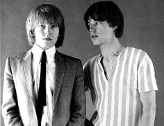 The Rolling Stones' Brian Jones and Mick Jagger...
