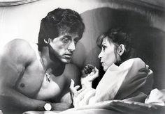Sylvester Stallone & Talia Shire in Rocky III (1982)
