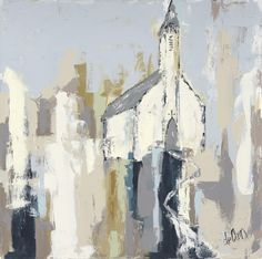 The Little White Church - Fine Art by Deann Hebert Oil Painting Abstract, Knife Painting, Watercolor Paintings, Cheap Paintings, Chapelle, Angel Art, Canvas Pictures, Painting Inspiration, Art Inspo
