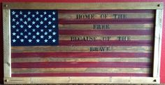 Home of the Free Because of the Brave by countrycraftsbydebbi on Etsy