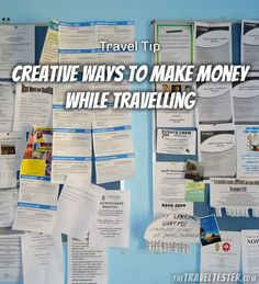 Creative Ways To Make Money While Travelling