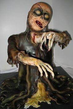 Zombie cake  #horror #cake #halloween