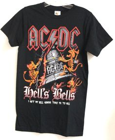 AC/DC Tee Hells Bells (Men) #NoBrand #GraphicTee