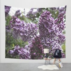 Lilac flowers Wall Tapestry by VanessaGF | Society6   #Lilac, #purple, #nature, #flowers, #photography ,#tapestry