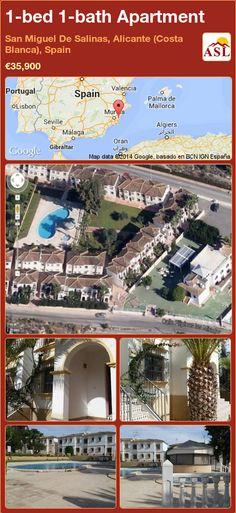 1-bed 1-bath Apartment in San Miguel De Salinas, Alicante (Costa Blanca), Spain ►€35,900 #PropertyForSaleInSpain