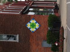 "Did a pinterest search for Vicksburg MI, and found a ""barn quilt"" on the old Boers Dress Shop building - love!!"