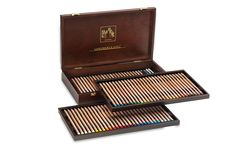 Caran D'Ache pastel pencils in wood set. Luxury Swiss ecriture.