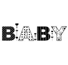 Tampon bois 'Aladine - Naissance' Baby Coeurs
