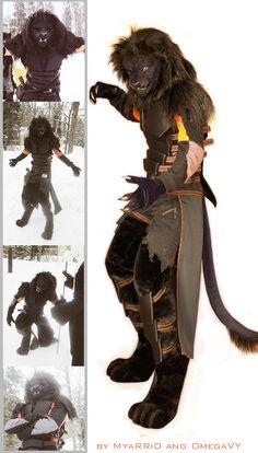 Black Anthrolion fursuit by OmegaLioness.deviantart.com on deviantART.