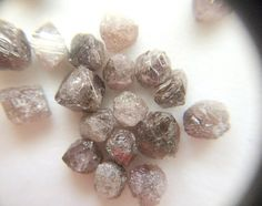 Pink Grey Rough Diamond Crystal Rare Raw Pink by gemsforjewels