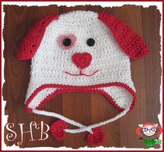 Puppy Love Crochet Hat - Crochet creation by Heather Macias