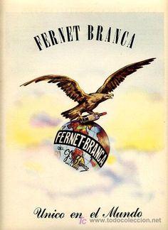 CARTEL PUBLICIDAD FERNET BRANCA , MILANO , ITALIA , AÑOS 50 MZ 26 - Foto 1