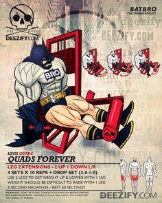 leg exercise: leg extensions batman