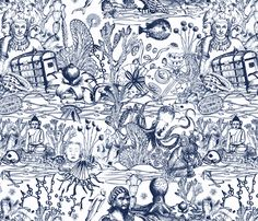 sea-treasures fabric by maruqui on Spoonflower - custom fabric