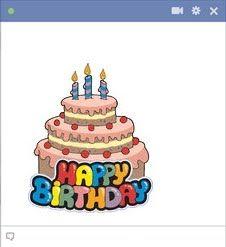 Birthday Cake Emoticons Cool Cakes Happy Cards Decir No