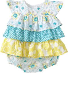 Would be an adorable coming home outfit.the colors of her nursery! Baby Girl Romper, Baby Girl Dresses, Little Dresses, My Baby Girl, Baby Love, Baby Dress, Girl Outfits, Baby Girl Fashion, Kids Fashion
