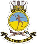 HMAS Warramunga (II) Badge Ship Logo, Australian Defence Force, Royal Australian Navy, Ship Paintings, Emblem, Armada, Crests, Royal Navy, Stickers