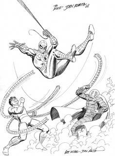 Sr commission piece, in Ygor D's original artwork Comic Art Gallery Room Comic Book Artists, Comic Book Characters, Marvel Characters, Comic Artist, Comic Character, Marvel Comic Books, Marvel Art, Comic Books Art, Stan Lee Spiderman