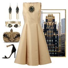 """""""Pure Gold"""" by easy-dressing ❤ liked on Polyvore featuring Alexis Bittar, Versace, Alexander McQueen and Michael Kors"""