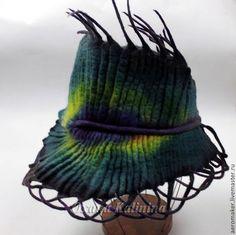 """Шляпы ручной работы. Ярмарка Мастеров - ручная работа Шляпа войлочная """"Перо павлина"""". Handmade."""