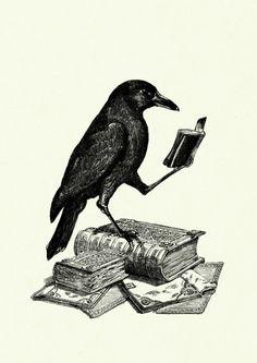 http://nl.dawanda.com/product/50853510-Lesender-Rabe-Buch-steampunk-surreal-Kunstdruck