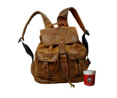 Rucksäcke - Bikerrucksack JALDA Rugget-Hide Leder braun - ein Designerstück von Ledertaschenshop24 bei DaWanda