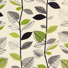 Autumn Leaves 7 - Baumwolle - apfelgrün
