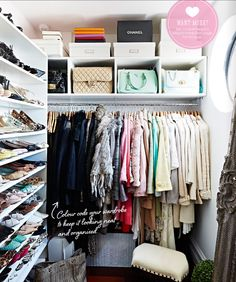 decorology: Inside the fabulous home of fashion illustrator Megan Hess.  Great closet space.