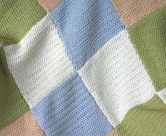 Blanket Throw Baby Lap  Pastel Patchwork by BlueberryBarnKnits, �90.00 (via #spinpicks)