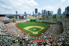 PNC Park in Pittsburgh, PA, is home to the Pittsburgh Pirates. Pittsburgh Hotels, Pittsburgh Sports, Pittsburgh Pirates, Pittsburgh International Airport, Pnc Park, Fairfield Inn, Marriott Hotels, Park Homes, Travel Deals
