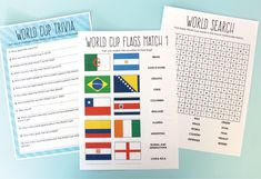 Free Printable: World Cup 2014 Activity Book